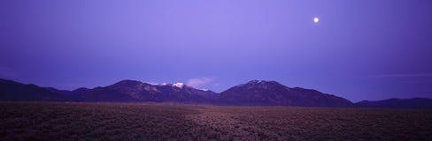 Sangre de Cristo Mountains al tramonto, Fotografia Stock