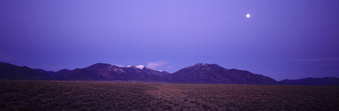 Sangre de Cristo Mountains At Sunset, Taos, New Mexico Stock Image