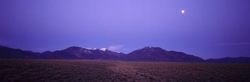 Sangre de Cristo Mountains At Sunset, Taos, New Mexico Stock Image