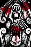 Sangre de la muerte del grunge de Víspera de Todos los Santos Fotografía de archivo libre de regalías