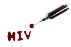 Sangre del VIH del examen Fotos de archivo libres de regalías