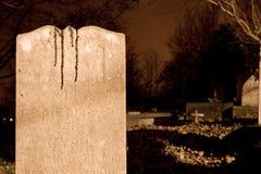 Sangre en una lápida mortuaria Fotos de archivo libres de regalías