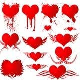 Sangre gótica del corazón Fotografía de archivo