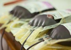 Sangre humana en almacenamiento Foto de archivo libre de regalías
