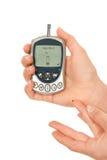 Sangre llana de medición de la glucosa de la diabetes dependiente Foto de archivo