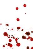 Sangre salpicada Fotos de archivo libres de regalías