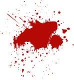 Sangre, salpicadura del chapoteo del vino stock de ilustración