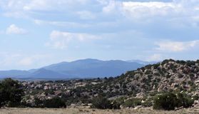 Sangre ve cristo, new Mexico. A scenic view of the mountian range sangre ve cristo, new Mexico royalty free stock photos