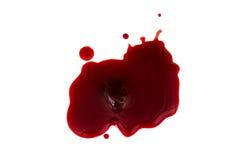 Sangre y coágulo de sangre fotos de archivo