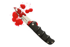 Sangre y cuchillo Fotos de archivo libres de regalías