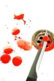 Sangre y cuchillo imagen de archivo libre de regalías