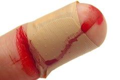 Sangre y vendaje Imágenes de archivo libres de regalías