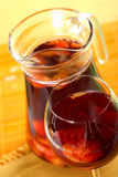 Sangria. Delicious wine made from fruits in the glass Royalty Free Stock Images