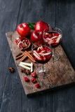Sangria with apple and pomegranate Stock Photography