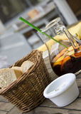 Sangria & bread Royalty Free Stock Images