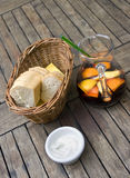 Sangria & bread Stock Images