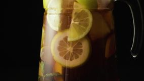 Sangria in the carafe slow mo stock video footage