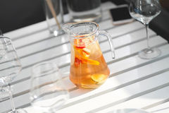 Sangria in the decanter royalty free stock images
