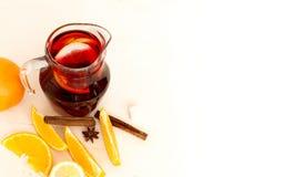 Sangria di rinfresco della frutta Bevanda di estate Immagine Stock