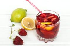 Sangria di rinfresco della frutta Bevanda di estate Fotografie Stock