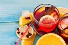 Sangria di rinfresco della frutta Bevanda di estate Immagini Stock
