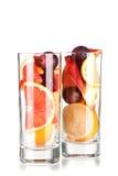 Sangria di rinfresco della frutta (punzone) Fotografia Stock