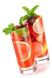 Sangria di rinfresco della frutta (punzone) Immagine Stock
