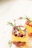 Sangria do Natal com sider da maçã Fotos de Stock Royalty Free