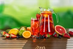 Sangria. Drink fruit soft punch refresh refreshing stock image