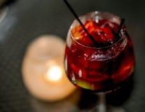 Sangria fraîche de vin rouge Image libre de droits