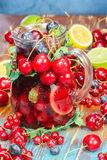 Sangria Fruit Punch Stock Images