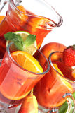 Sangria and fruits Royalty Free Stock Photos