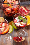 Sangria with fruits Royalty Free Stock Photo