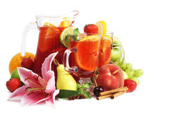 Sangria and fruits Royalty Free Stock Photo
