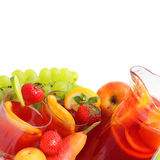 Sangria and fruits Stock Image