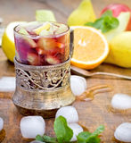 Sangria and fruits Stock Images
