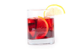 Sangria in glass Royalty Free Stock Photos