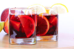 Sangria in glasses Royalty Free Stock Photography