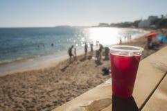 Sangria på stranden Arkivfoton