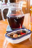 Sangria pitcher Royalty Free Stock Photos