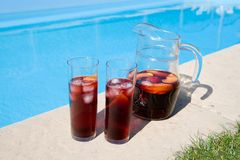 Sangria by the Pool stock images