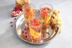 Sangria Prosecco коктеиля Стоковое Изображение