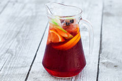Sangria with red wine Stock Photo