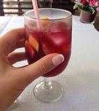 sangria szkła Zdjęcia Stock