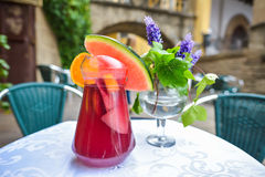 Sangria on table. In Barcelona royalty free stock images
