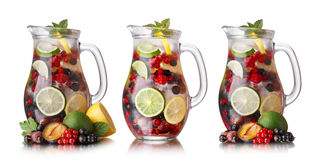 Sangrias set Stock Photos