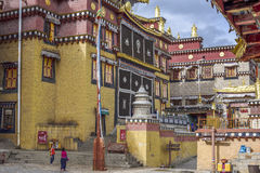 Sangrila´s Tibetan Temple. Inside the Tibetan Temple of Songzanlin in Yunnan Province, China. One of the biggest Tibetan monasteries in China Royalty Free Stock Photography