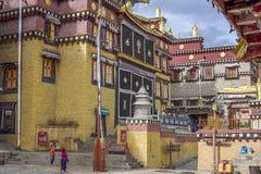 sangrilaTybetańska świątynia Fotografia Royalty Free