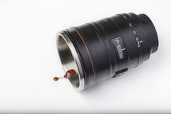 Sangue colante del corpo della lente Fotografie Stock