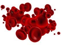 Sangue con i globuli rossi Fotografie Stock Libere da Diritti